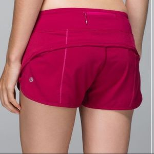 Lululemon Run: Speed Short Stretch Bumble Berry